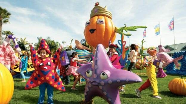 Pela foto de divulgação mesmo você vê que a festa não tem nenhuma produção espetacular, mas para os pequenos, pode ser divertido. Foto: Divulgação Sea World