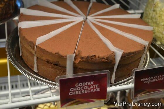 O de chocolate Godiva também faz o maior sucesso.