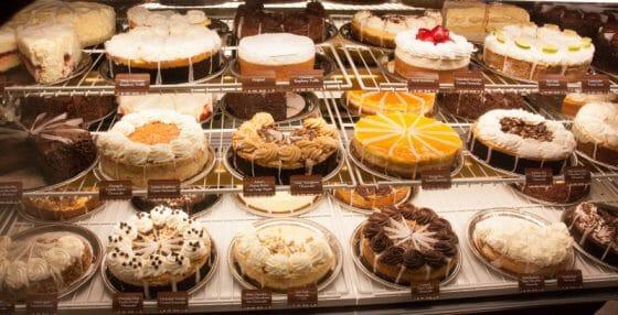 Algumas das opções de Cheesecakes. Hummmmm