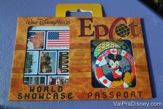 O passaporte do World Showcase é excelente para as crianças aproveitarem mais o parque.