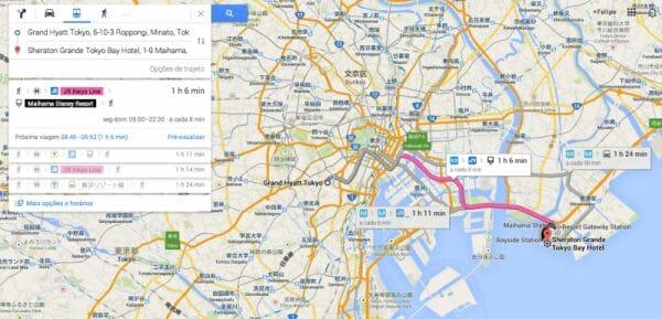 Google Maps para a Disney de Tóquio