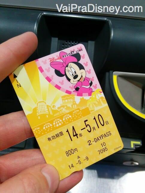 Bilhete para acesso ao Disney Resort Line. Comprei errado um de 2 e depois fiz um upgrade pro de 3 dias.