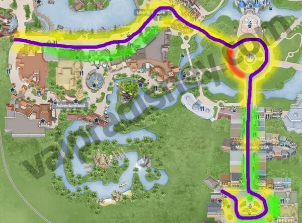 Mapa - Melhores lugares para ver a parada
