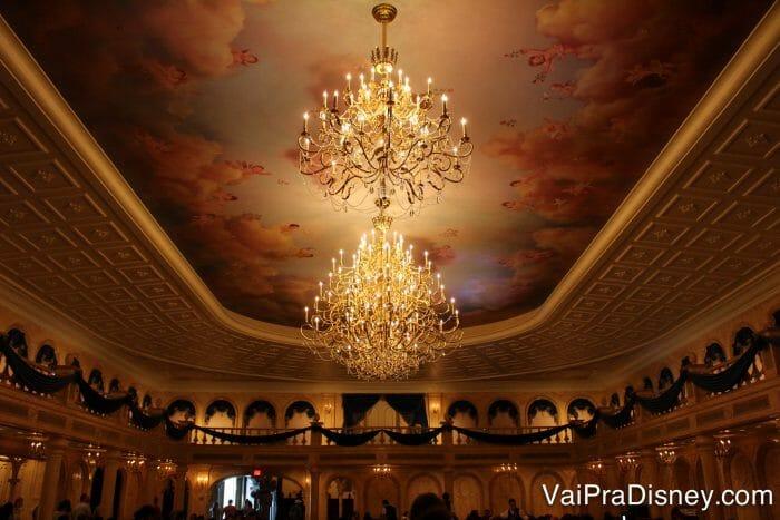 A Disney caprichou nos detalhes desse castelo! Olha que lindo!