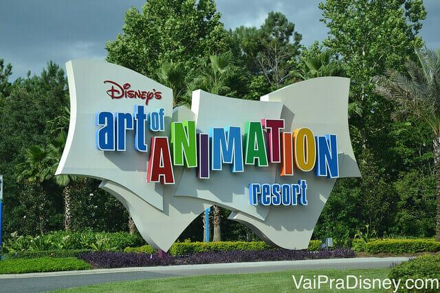 Art of Animation: Quando você der de cara com essa placa, saiba que estará presentes a entrar em um dos hotéis mais tematizados que já visitei!