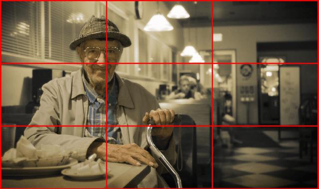 Repare como o senhor foi bem posicionado no primeiro eixo da foto, enquanto o resto da composição explorou bem o cenário.
