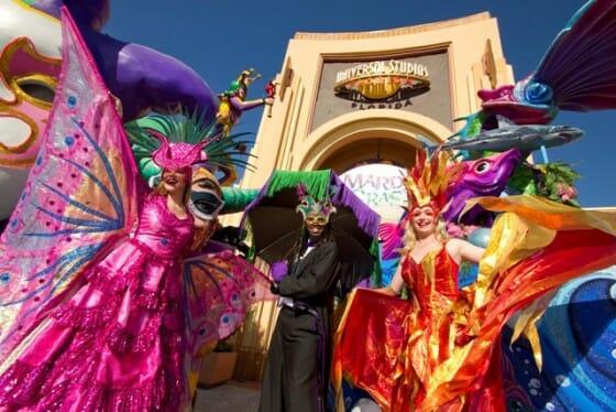 O carnaval da Universal que acontece na época de fevereiro a abril
