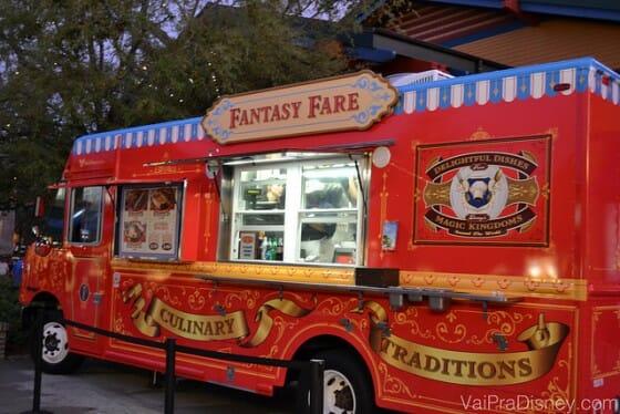 Fantasy Fare, o food truck da Disney que traz comidas do Magic Kingdom