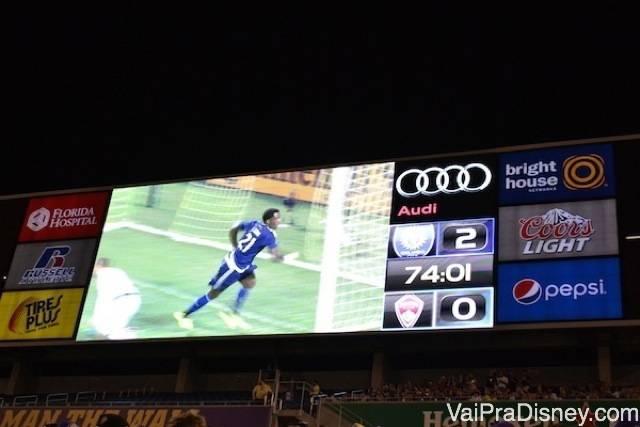 Placar final do jogo contra Colorado que eu assisti.