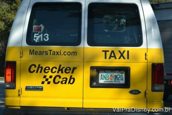 Os Checker Cab estão por todos os lados de Orlando. Prepare-se.