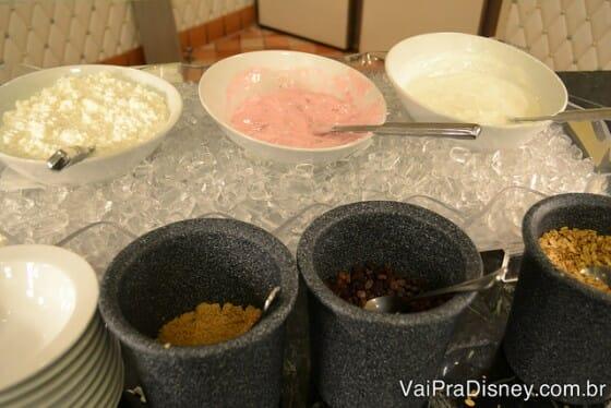 Buffet de yogute para os mais saudáveis