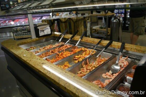 Comidas prontas no Whole Foods.