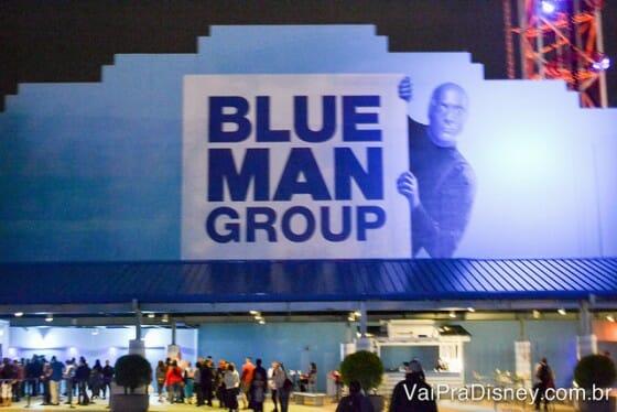 Entrada do teatro do Blue Man Group em Orlando