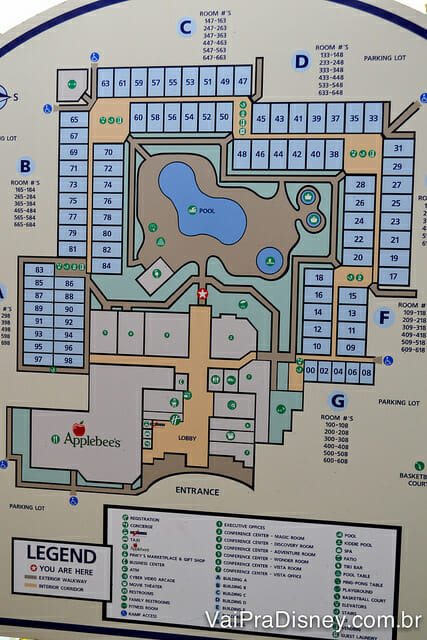 Mapa do Holiday Inn Lake Buena Vista