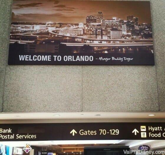 A chegada no aeroporto de Orlando. Inesquecível!