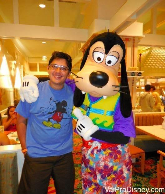 Com o Pateta no Cape May Cafe, que falo mais abaixo