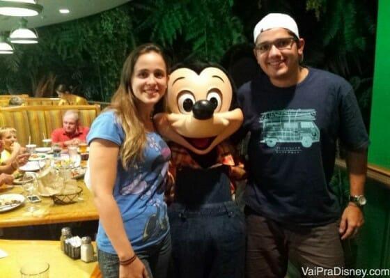 Mickey fazendeiro no Garden Grill