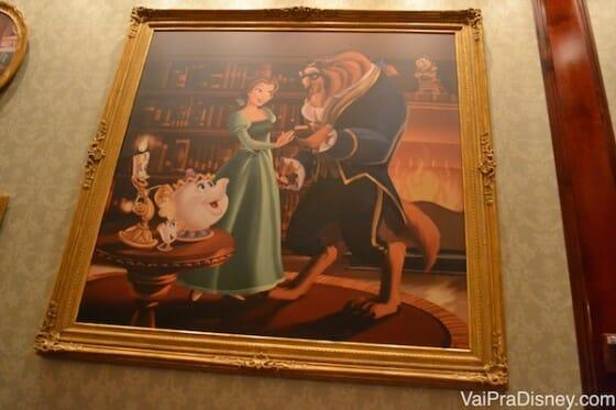 Detalhes da decoração do restaurante.