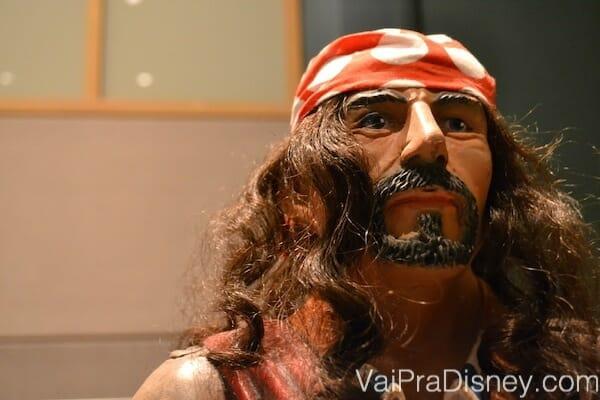Viu uma estátua de pirata? Você está no lugar certo para a recepção do Pirates & Pals Fireworks Voyage.