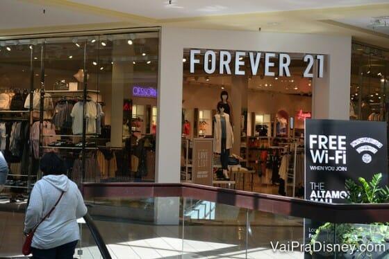 Forever 21 também está no Altamonte Mall.