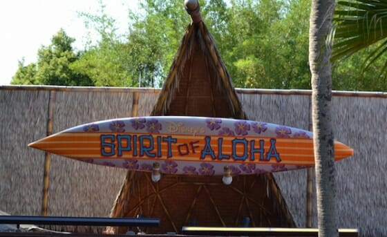 O palco do Spirit of Aloha