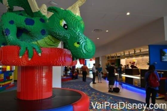 Recepção do Legoland Hotel