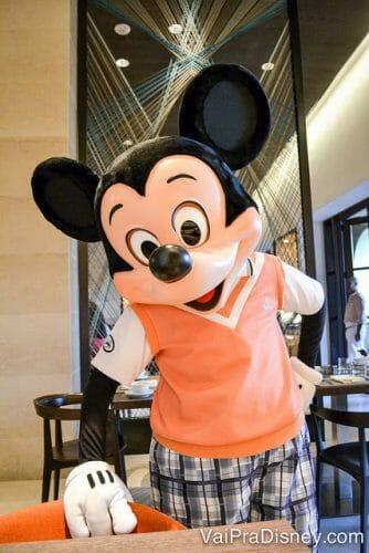 Mickey no Ravello. Comida ótima e interação com personagens excelente!