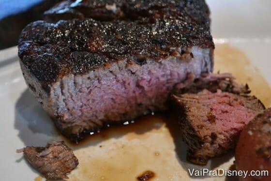 Minha carne veio no ponto ideal para mim. Estava hiper macia.