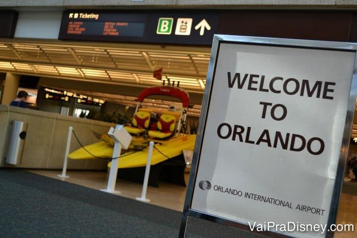 Chegando no aeroporto de Orlando