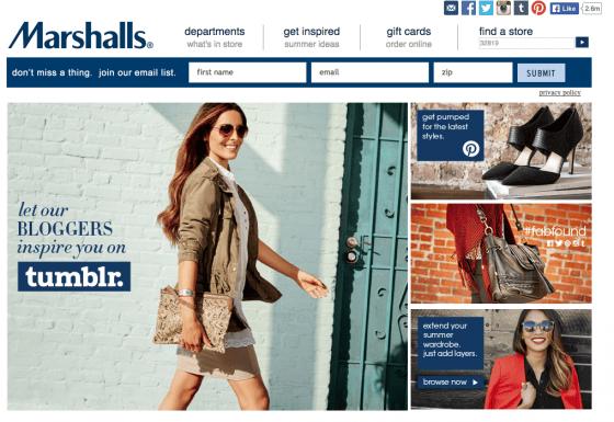 Entre no site da Marshalls para achar a loja mais próxima.