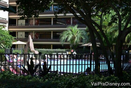 Dicas para se hospedar em Orlando: Piscina no Rosen Inn, um dos hotéis mais populares entre os brasileiros que visitam Orlando