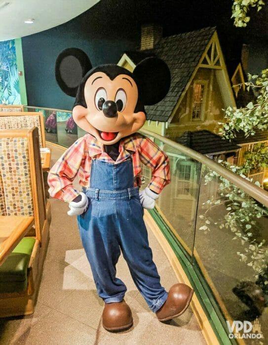 O Garden Grill no Epcot tem um almoço bem gostoso com o Mickey na versão fazendeiro! Fofo, né?