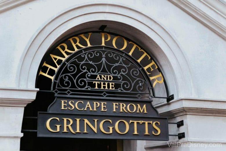 A atração que eu mais amo na área de Harry Potter.