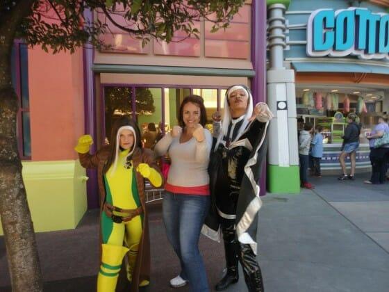 Com os X-Man no Islands of Adventure