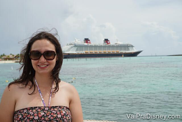 A ilha da Disney em Bahamas, Castaway Cay, é uma delícia! Perfeita para relaxar. Faz bem para a mente e o corpo, só pro meu cabelo que não fez tão bem assim! hahahah
