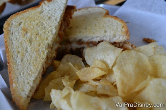 Meu sanduíche de meatloaf. Parece estranho mas estava bem gostoso.