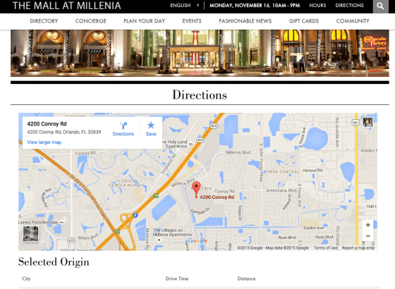 Site do Mall at Millenia