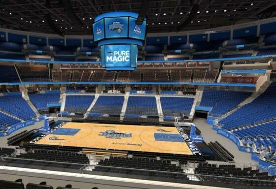 Visão do setor Club do Amway Center - NBA Orlando Magic