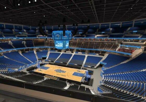 Visão do setor Promenade A do Amway Center - NBA Orlando Magic