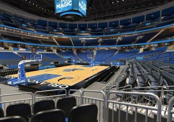 Visão do setor Terrace B do Amway Center - NBA Orlando Magic