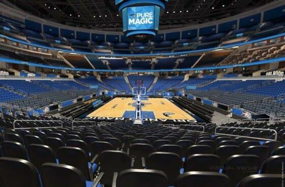 Visão do setor Terrace C do Amway Center - NBA Orlando Magic