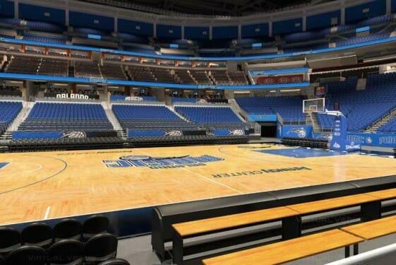 Visão do setor Ultimate do Amway Center - NBA Orlando Magic