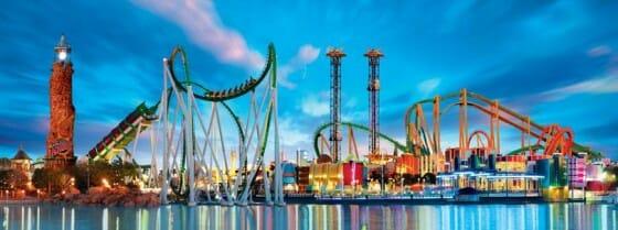 Panorama do Islands of Adventure, em Universal Orlando Resort
