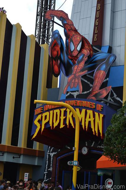 Simulador do Homem Aranha, uma das melhores atrações do Islands of Adventure, na minha opinião