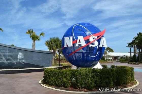 Entrada do Kennedy Space Center, que fica no Cabo Canaveral