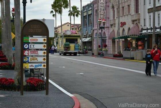 Hollywood no Universal Studios. É o caminho para o Harry Potter