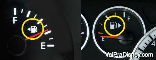 Você já tinha reparado nessa seta no painel do seu carro? Ela indica o lado por onde se abastece o combustível
