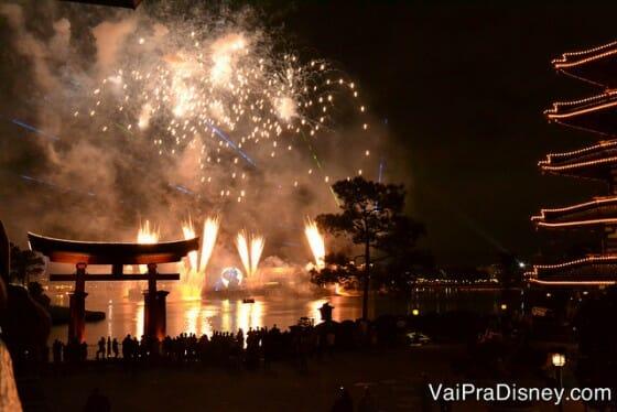 Illuminations da varanda do Japão.