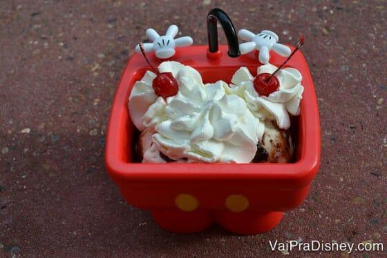 O famoso Sundae do Mickey.