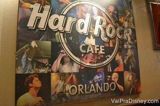 Clássico Hard Rock, também tem espaço para shows.
